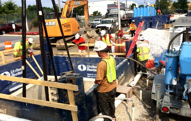 Horseshoe Casino, Haines St. & Warner St. Baltimore, MD Digging and Shoring, Accelerated Management